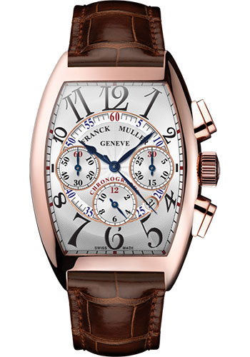 Franck Muller Watches - Cintre Curvex - Automatic Chronograph - 39.6 mm Rose Gold - Strap - Style No: 8880 CC AT 5N White Brown