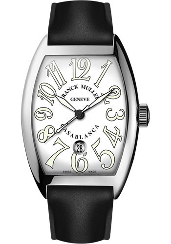 Franck Muller Watches - Cintre Curvex - Automatic - 39.6 mm Casablanca - Stainless Steel - Strap - Style No: 8880 C DT AC White Black Rubber