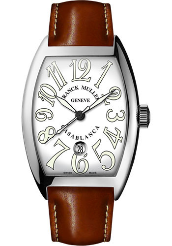 Franck Muller Watches - Cintre Curvex - Automatic - 39.6 mm Casablanca - Stainless Steel - Strap - Style No: 8880 C DT AC White Brown
