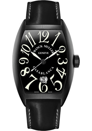 Franck Muller Watches - Cintre Curvex - Automatic - 39.6 mm Casablanca - Black PVD - Strap - Style No: 8880 C DT NR AC Black