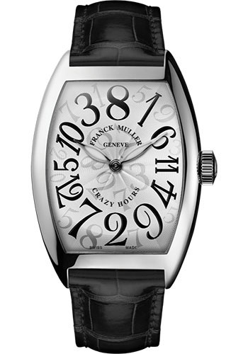 Franck Muller Watches - Cintre Curvex - Automatic - 39.6 mm Crazy Hours - Stainless Steel - Strap - Style No: 8880 CH AC White