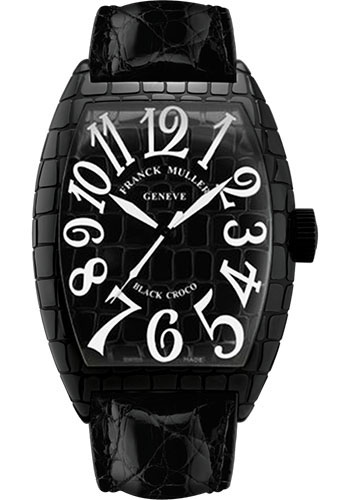 Franck Muller Watches - Cintre Curvex - Automatic - 39.6 mm Black Croco Case - Strap - Style No: 8880 SC BLK CRO Black