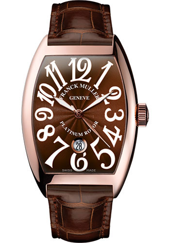 Franck Muller Watches - Cintre Curvex - Automatic - 39.6 mm Rose Gold - Strap - Style No: 8880 SC DT 5N Brown