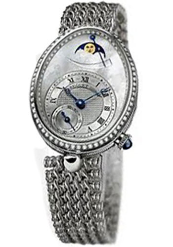 Breguet Watches - Reine de Naples 8908 - Moon Phases - 28.45mm X 36.5mm - Style No: 8908BB/52/J20.D000