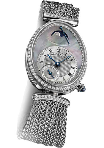 Breguet Watches - Reine de Naples 28.45mm X 36.5mm - White Gold - Style No: 8908BB/5T/J70.D0DD