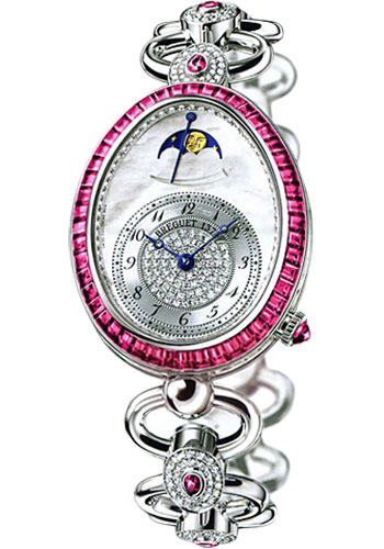 Breguet Watches - Reine de Naples 8909 - Moon Phases - 30.45mm X 38.5mm - Style No: 8909BB/5D/J21.RRRR