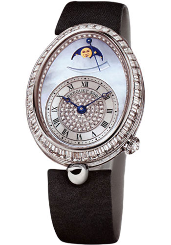 Breguet Watches - Reine de Naples 8909 - Moon Phases - 30.45mm X 38.5mm - Style No: 8909BB/VD/864.D00D
