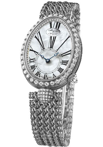 Breguet Watches - Reine de Naples 8928 - 24.95mm X 33mm - White Gold - Style No: 8928BB/51/J20.DD00