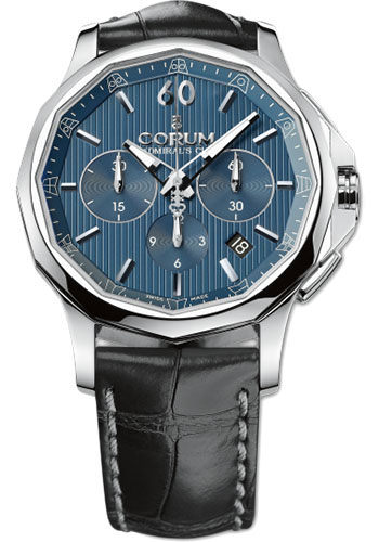 Corum Watches - Admiral Legend 42 mm - Chronograph - Stainless Steel - Style No: A984/01309 - 984.101.20/0F01 AB10