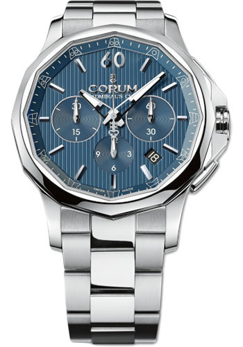 Corum Watches - Admiral's Cup Legend 42 Chronograph - Stainless Steel - Style No: 984.101.20/V705 AB10