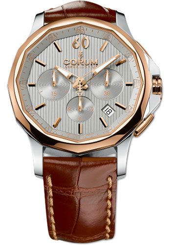 Corum Watches - Admiral's Cup Legend 42 Chronograph - Steel and Gold - Style No: 984.101.24/0F02 FH11