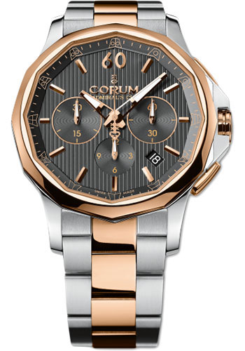 Corum Watches - Admiral Legend 42 mm - Chronograph - Steel and Gold - Style No: A984/01287 - 984.101.24/V705 AN11