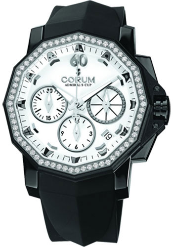 Corum Watches - Admiral's Cup Challenger 40 Chrono Black PVD Stainless Steel - Style No: 984.970.97/F371 AA32