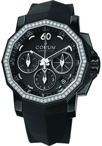 Corum Watches - Admiral's Cup Challenger 40 Chrono Black PVD Stainless Steel - Style No: 984.970.97/F371 AN32