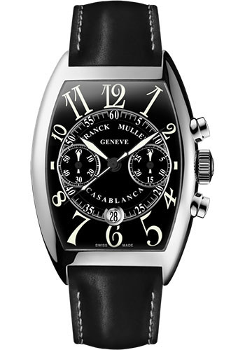 Franck Muller Watches - Cintre Curvex - Automatic Chronograph - 43 mm Casablanca - Stainless Steel - Strap - Style No: 9880 C CC DT AC Black