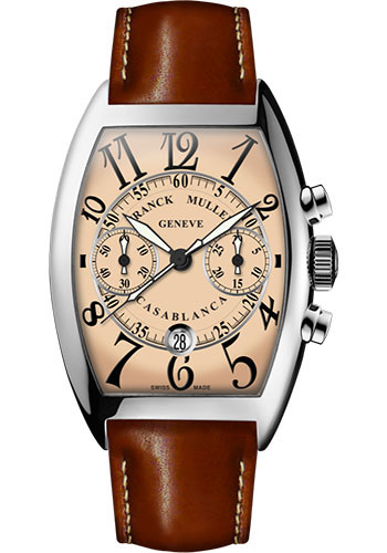 Franck Muller Watches - Cintre Curvex - Automatic Chronograph - 43 mm Casablanca - Stainless Steel - Strap - Style No: 9880 C CC DT AC Salmon