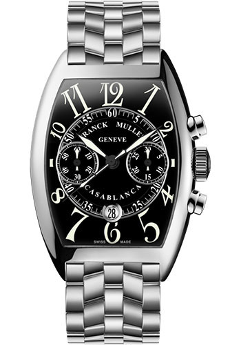 Franck Muller Watches - Cintre Curvex - Automatic Chronograph - 43 mm Casablanca - Stainless Steel - Bracelet - Style No: 9880 C CC DT O AC Black