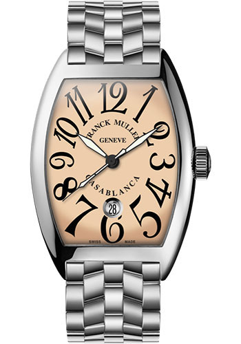 Franck Muller Watches - Cintre Curvex - Automatic - 43 mm Casablanca - White Gold - Bracelet - Style No: 9880 C DT O OG Salmon