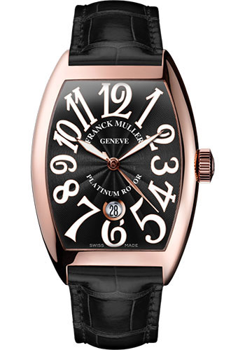 Franck Muller Watches - Cintre Curvex - Automatic - 43 mm Rose Gold - Strap - Style No: 9880 SC DT 5N Black