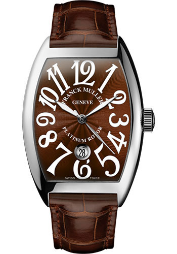 Franck Muller Watches - Cintre Curvex - Automatic - 43 mm Stainless Steel - Strap - Style No: 9880 SC DT AC Brown