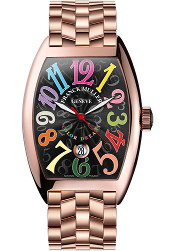 Franck Muller Watches - Cintre Curvex - Automatic - 43 mm Color Dreams - Rose Gold - Bracelet - Style No: 9880 SC DT COL DRM O 5N Black