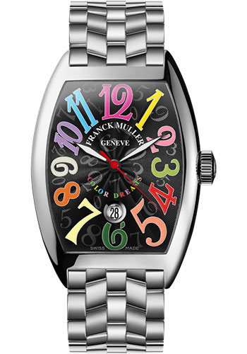 Franck Muller Watches - Cintre Curvex - Automatic - 43 mm Color Dreams - Stainless Steel - Bracelet - Style No: 9880 SC DT COL DRM O AC Black