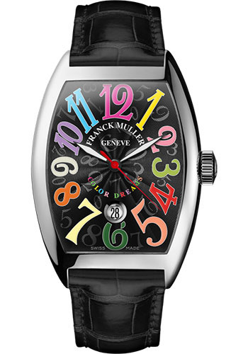 Franck Muller Watches - Cintre Curvex - Automatic - 43 mm Color Dreams - White Gold - Strap - Style No: 9880 SC DT COL DRM OG Black