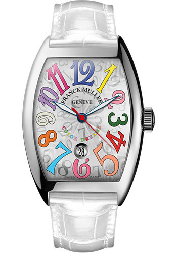 Franck Muller Watches - Cintre Curvex - Automatic - 43 mm Color Dreams - White Gold - Strap - Style No: 9880 SC DT COL DRM OG White White
