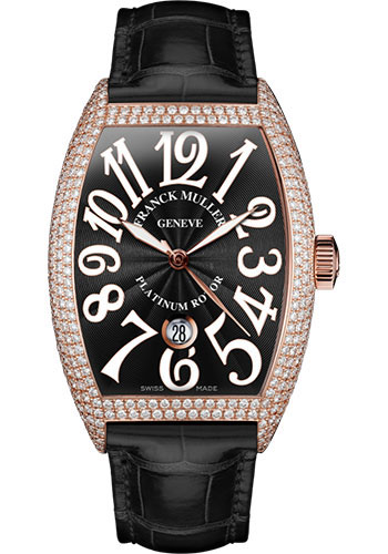 Franck Muller Watches - Cintre Curvex - Automatic - 43 mm Rose Gold - Dia Case - Strap - Style No: 9880 SC DT D7 5N Black