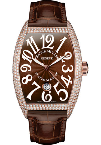 Franck Muller Watches - Cintre Curvex - Automatic - 43 mm Rose Gold - Dia Case - Strap - Style No: 9880 SC DT D7 5N Brown