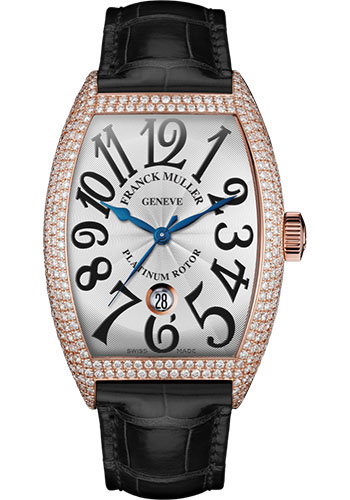 Franck Muller Watches - Cintre Curvex - Automatic - 43 mm Rose Gold - Dia Case - Strap - Style No: 9880 SC DT D7 5N White Black