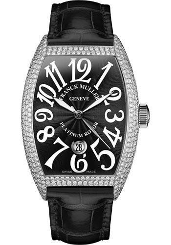 Franck Muller Watches - Cintre Curvex - Automatic - 43 mm White Gold - Dia Case - Strap - Style No: 9880 SC DT D7 OG Black