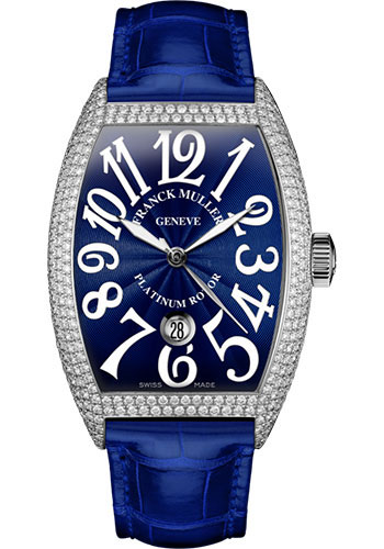 Franck Muller Watches - Cintre Curvex - Automatic - 43 mm White Gold - Dia Case - Strap - Style No: 9880 SC DT D7 OG Blue