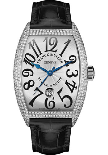 Franck Muller Watches - Cintre Curvex - Automatic - 43 mm White Gold - Dia Case - Strap - Style No: 9880 SC DT D7 OG White Black