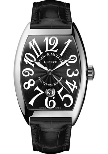 Franck Muller Watches - Cintre Curvex - Automatic - 43 mm Platinum - Strap - Style No: 9880 SC DT PT Black