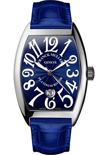 Franck Muller Watches - Cintre Curvex - Automatic - 43 mm Platinum - Strap - Style No: 9880 SC DT PT Blue