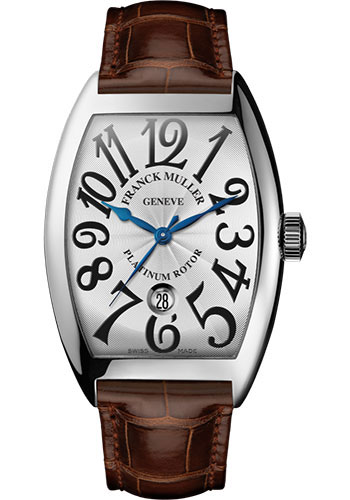 Franck Muller Watches - Cintre Curvex - Automatic - 43 mm Platinum - Strap - Style No: 9880 SC DT PT White Brown