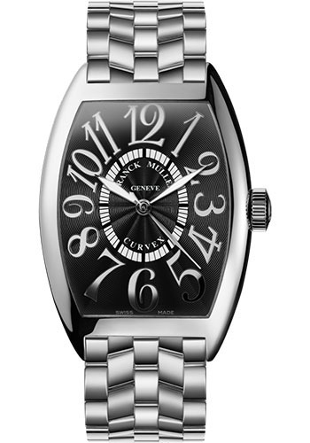 Franck Muller Watches - Cintre Curvex - Automatic - 43 mm Relief Numerals - White Gold - Bracelet - Style No: 9880 SC REL O OG Black