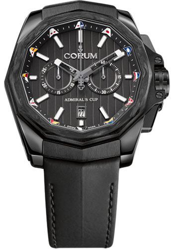 Corum Watches - Admiral AC-One 45 mm - Chronograph - Black PVD Steel - Style No: A116/02597 - 116.101.36/0F61 AN20