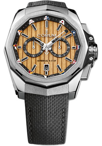 Corum Watches - Admiral AC-One 45 mm - Chronograph - Stainless Steel - Style No: A116/02599 - 116.101.20/F249 TB20