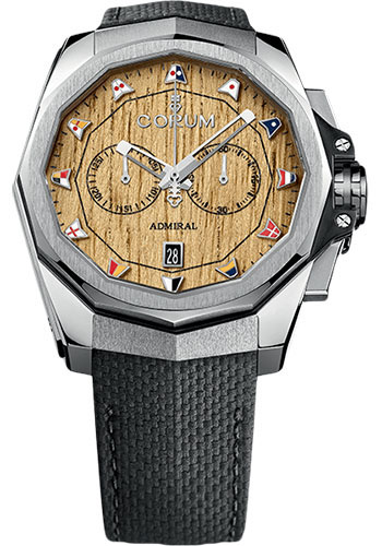 Corum Watches - Admiral Chronograph 45 mm - Stainless Steel - Style No: A116/03363 - 116.101.20/F249 AW01