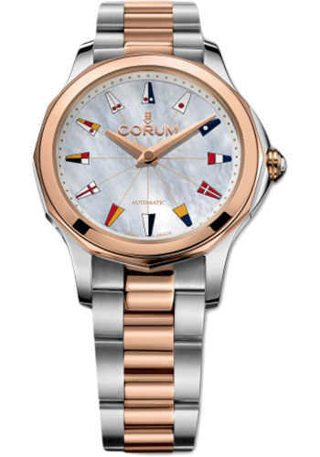 Corum Watches - Admiral Legend 32 mm - Steel and Rose Gold - Style No: A400/02886 - 400.100.24/V200 PN13
