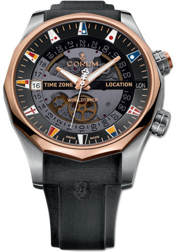 Corum Watches - Admiral's Cup Legend 47 Worldtimer - Style No: A637/02743 - 637.101.05/F371 AN01