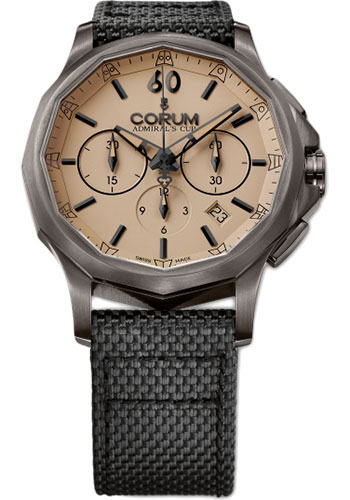 Corum Watches - Admiral's Cup Legend 42 Chronograph - PVD Stainless Steel - Style No: A984/02634 - 984.102.98/0603 AC13