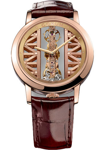 Corum Watches - Golden Bridge 43mm - Round - Rose Gold - Style No: B113/03010 - 113.900.55/0F02 GG55R