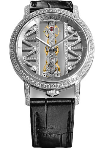 Corum Watches - Golden Bridge 43mm - Round - White Gold - Style No: B113/03043 - 113.901.69/0F01 GG69G