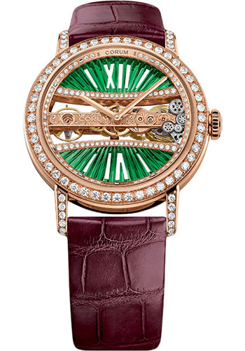Corum Watches - Golden Bridge 39 mm Round - Rose Gold - Style No: B113/03168 - 113.000.85/0F90 DV91R