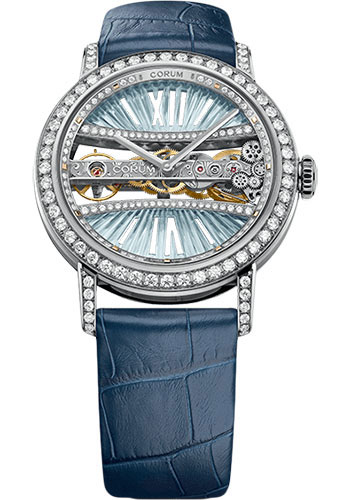 Corum Watches - Golden Bridge 39 mm Round - White Gold - Style No: B113/03169 - 113.000.69/0F03 DB91G