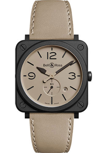 Bell & Ross Watches - BR-S Quartz Desert Type - Style No: BRS-DESERT-CEM