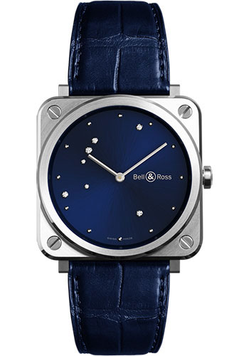 Bell & Ross Watches - BR-S Quartz Blue Diamond Eagle - Style No: BRS-EA-ST/SCR